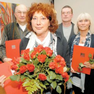 Engagierte Sozialdemokraten: Reinhard Stuck (v. l.), Petra Hildebrandt, Claus-Dieter Brüning und Marion Breuer-Gelbe. FOTO: JOERN SPREEN-LEDEBUR