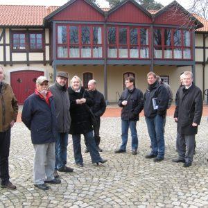 SPD Fraktionen auch Rahden und Uchte auf dem Färberplatz im Ortszentrum.