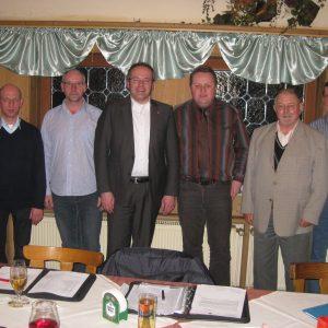Der Vorstand konnte dem Landrat als Gast begrüssen.