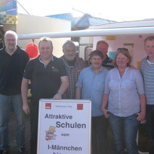von links: Volker Siebeking, Torsten Kuhlmann, Thomas Leinbach, Friedrich Meyer, Wilhelm Rohlfing, Mamke Kühl und Andreas Kühl