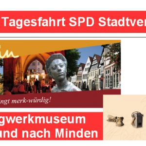 Tagesfahrt SPD Stadtverband Rahden nach Kleinenbremen