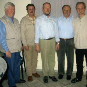 Von links: Dieter Langhorst; Friederich – Wilhelm Logemann; Paul Homann; Johann Bolte; Detlef Siebeking (Vorsitzender)