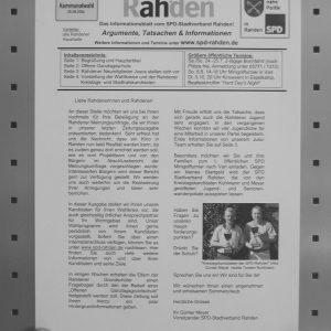 SPD Informationsblatt Juli 2004