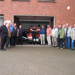 Die SPD Ratsfraktion beim Feuerwehrbesuch in Rahden