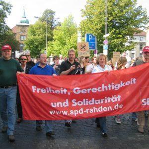 Aufstehen gegen Nazis am 16. September in Minden.