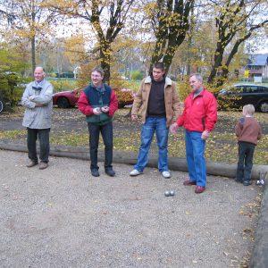 2006-11-18-Teilnehmer Bouleturnier 2006