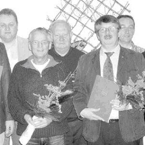 Der Vorstand und die Geehrten. JHV 2007 OV Wehe.