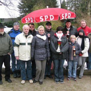 Vorstand und Pokalsieger des SPD-Bouleturnieres