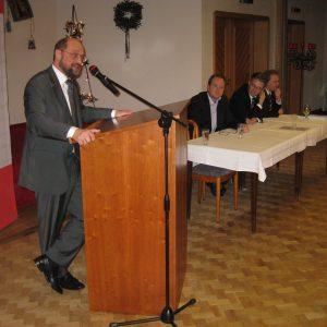 Kämpferisch: Martin Schulz setzte vor zahlreichen Gästen in Frotheim auf einen Linksruck in Europa.