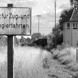 Wildwuchs: Gras wächst auf den Gleisen im Sulinger Bahnhof. Vom früheren Stellwerk Sulingen-Nord (r.) wurde auch den Zügen von Bremen nach Rahden die Wichen gestellt. Heute sind in diesem Bereich Güterwaggons abgestellt. FOTOS: JOERN SPREEN-LEDEBUR