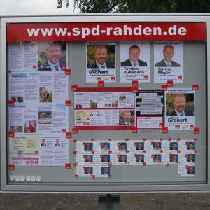 neuer SPD Schaukasten