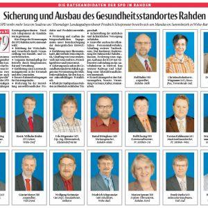 Ratskandidaten der SPD Rahden