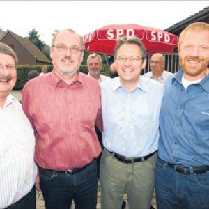 Zuversichtlich setzen Friedrich Schepsmeier, Ernst-Wilhelm Rahe, Achim Post und Dieter Gronert auf den politischen Wechsel auch in Rahden.