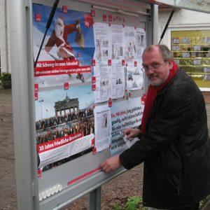Ernst-Wilhelm Rahe wird auch im Rahdener SPD Schaukasten informieren