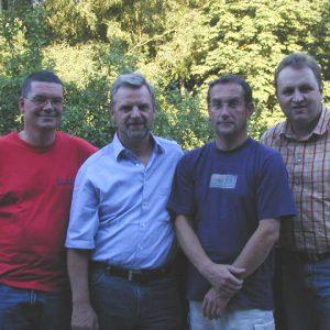 Das bestellte Wahlkampfteam für den Kommunalwahlkampf 2004.