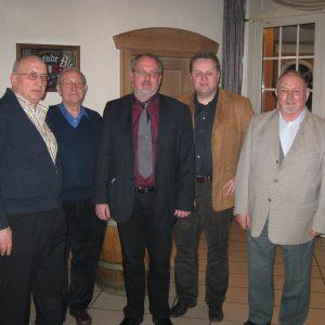 Reinhard Stuck, Gunter Kramer (Mobilagent), Ernst-Wilhem Rahe (Landtagskandidat), Torsten Kuhlmann, Johann Bolte (Ehrenvorsitzender)