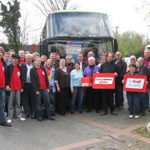 Die Minden-Lübbecker SPD Delegation in Düsseldorf.
