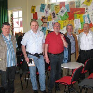 SPD Delegation im Saal des Rahdener Bahnhofes
