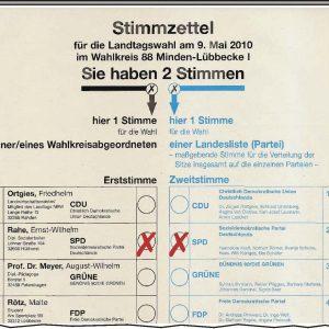 2 Stimmen für die SPD