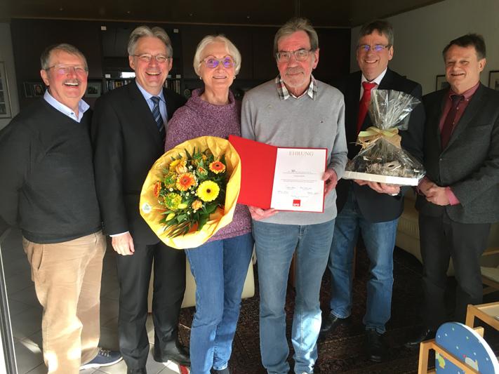 Ehrung Friedrich Rohde 50 Jahre SPD