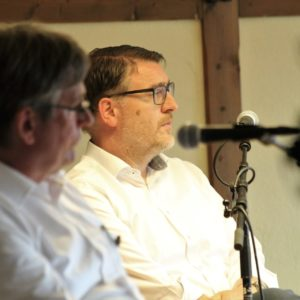 Udo Högemeier und Ingo Ellerkamp bei der abschließenden Podiumsdiskussion.